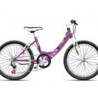 "Bicicleta Cross Alissa 20"" Roz/Mov/Alb"